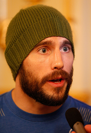 ESTOCOLMO, SUÉCIA - 3/4/2013: Ryan Couture dos EUA interage com a imprensa no Grand Hotel. (Foto de Josh Hedges/Zuffa LLC/Zuffa LLC via Getty Images)