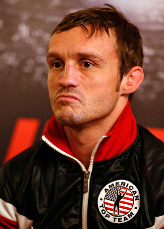 STOCKHOLM, SWEDEN - APRIL 03:  Brad Pickett of England interacts with media during an interview session at the Grand Hotel on April 3, 2013 in Stockholm, Sweden.  (Photo by Josh Hedges/Zuffa LLC/Zuffa LLC via Getty Images)