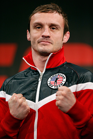 STOCKHOLM, SWEDEN - APRIL 03:  Brad Pickett of England poses for photos during an interview session at the Grand Hotel on April 3, 2013 in Stockholm, Sweden.  (Photo by Josh Hedges/Zuffa LLC/Zuffa LLC via Getty Images)