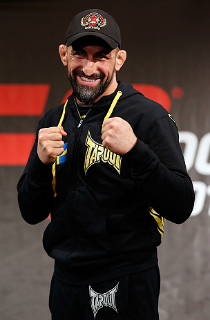 STOCKHOLM, SWEDEN - APRIL 03:  Reza Madadi of Sweden poses for photos during an interview session at the Grand Hotel on April 3, 2013 in Stockholm, Sweden.  (Photo by Josh Hedges/Zuffa LLC/Zuffa LLC via Getty Images)