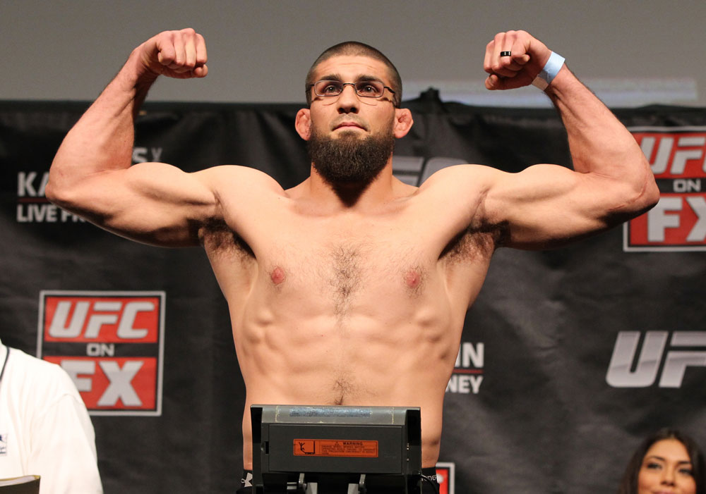 SYDNEY, AUSTRALIA - MARCH 02:  Court McGee weighs in during the UFC on FX official weigh in at Allphones Arena on March 2, 2012 in Sydney, Australia.  (Photo by Josh Hedges/Zuffa LLC/Zuffa LLC via Getty Images) *** Local Caption *** Court McGee