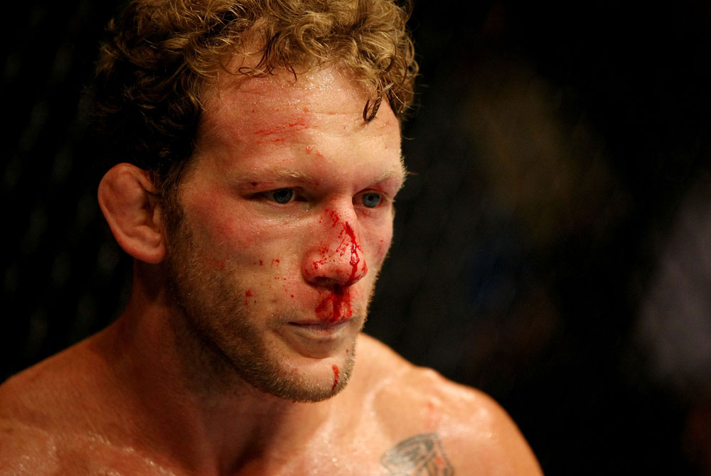ATLANTIC CITY, NJ - JUNE 22:  Gray Maynard looks on during the main event lightweight bout against Clay Guida (not pictured) during UFC on FX 4 at Revel Casino on June 22, 2012 in Atlantic City, New Jersey.  (Photo by Nick Laham/Zuffa LLC/Zuffa LLC)