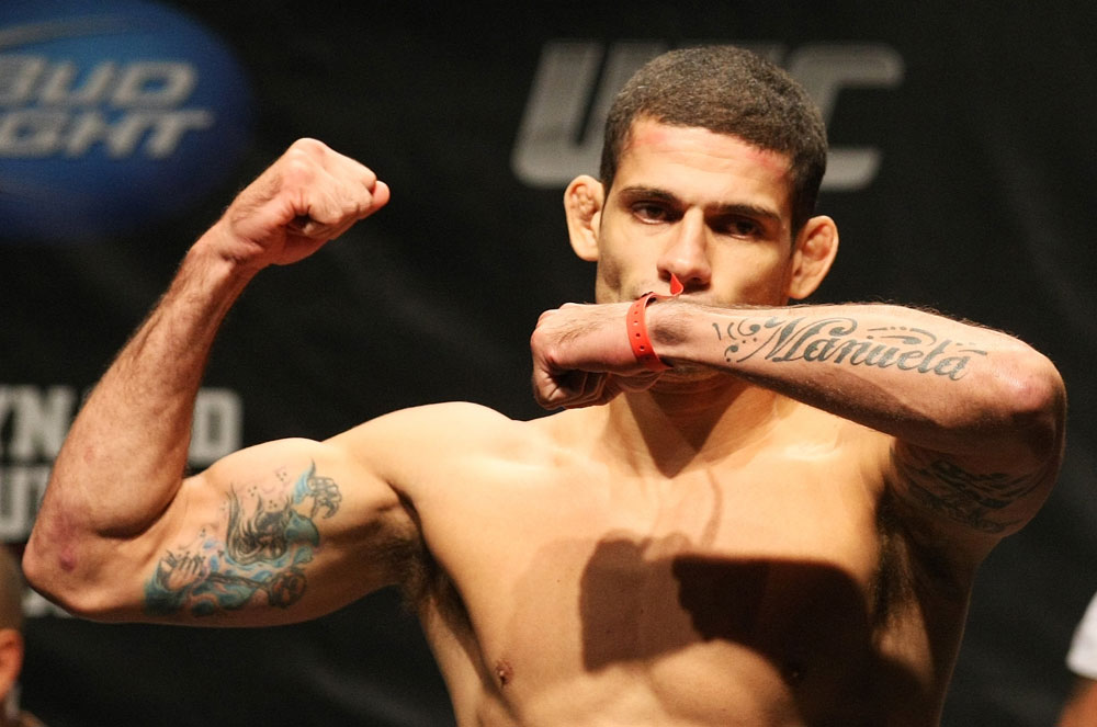 ATLANTIC CITY, NJ - JUNE 21: Luis Ramos makes weight during the UFC on FX official weigh in at Revel Casino on June 21, 2012 in Atlantic City, New Jersey.  (Photo by Nick Laham/Zuffa LLC/Zuffa LLC via Getty Images)