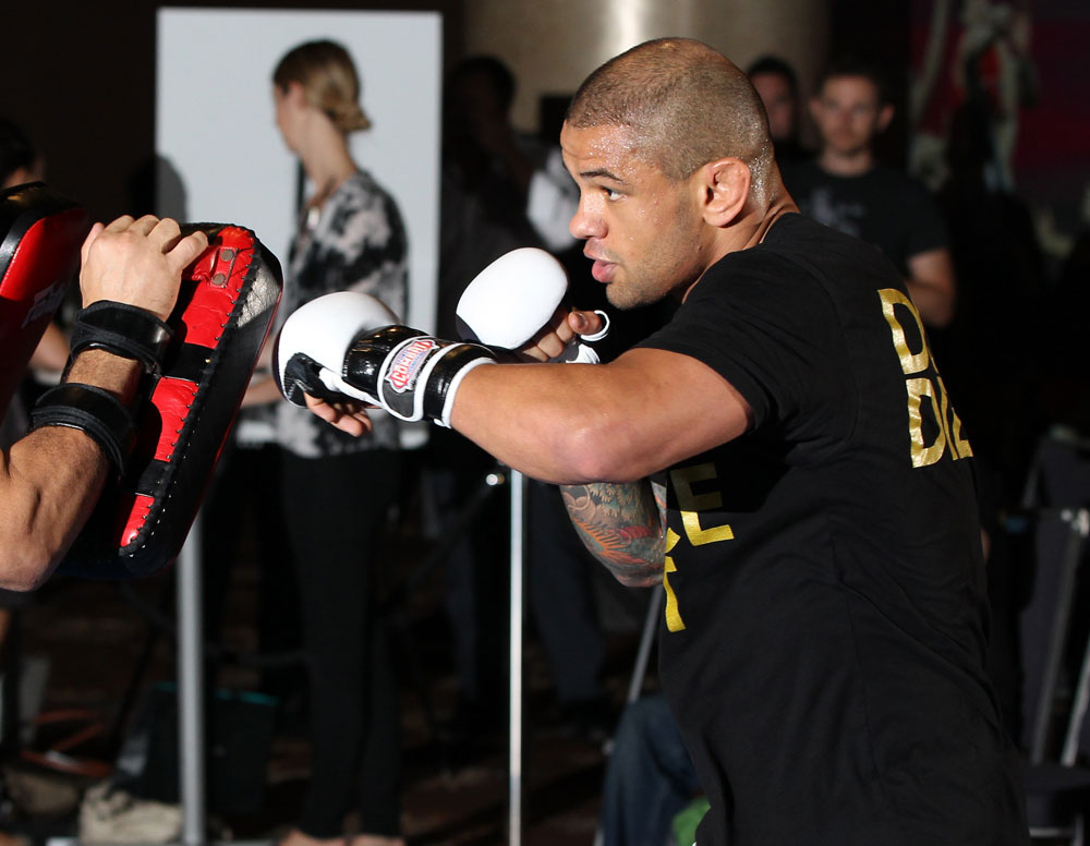 SYDNEY, AUSTRALIA - FEBRUARY 28:  Thiago Alves works out for the media during the UFC on FX open workouts at the Star Casino on February 28, 2012 in Sydney, Australia.  (Photo by Josh Hedges/Zuffa LLC/Zuffa LLC via Getty Images) *** Local Caption *** Thiago Alves