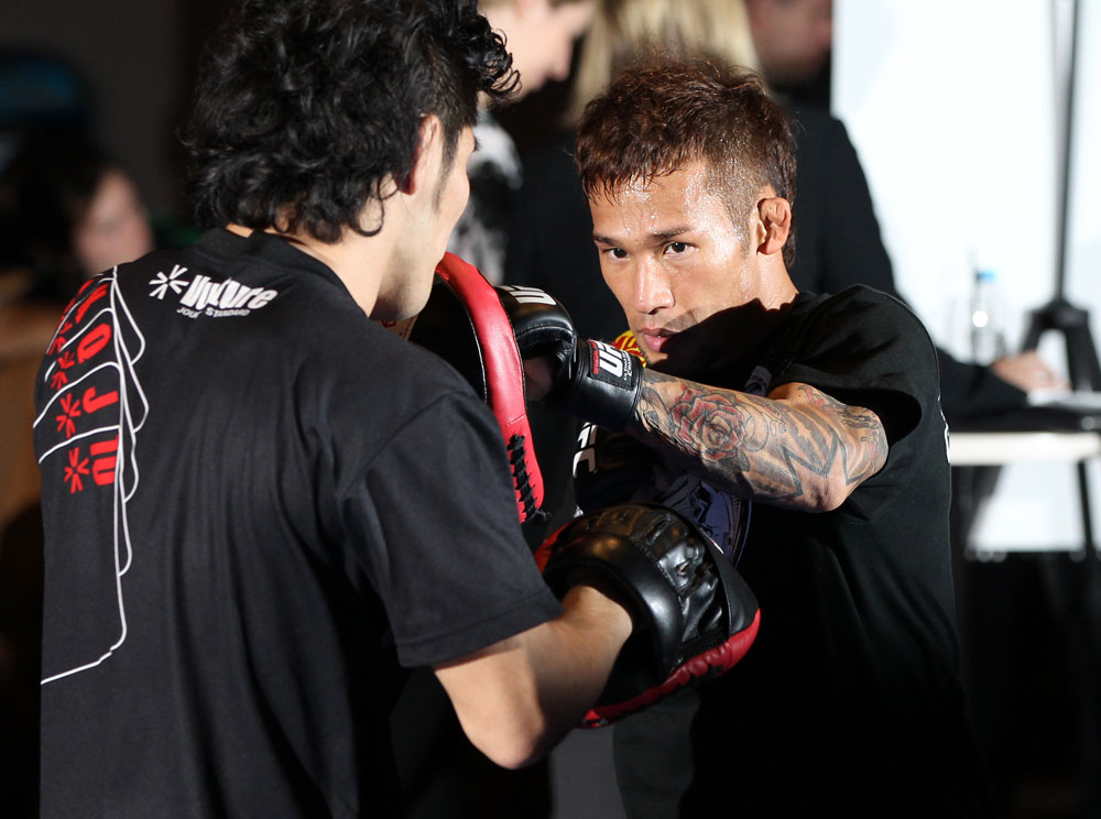 SYDNEY, AUSTRALIA - FEBRUARY 28:  Yasuhiro Urushitani works out for the media during the UFC on FX open workouts at the Star Casino on February 28, 2012 in Sydney, Australia.  (Photo by Josh Hedges/Zuffa LLC/Zuffa LLC via Getty Images) *** Local Caption *** Yasuhiro Urushitani