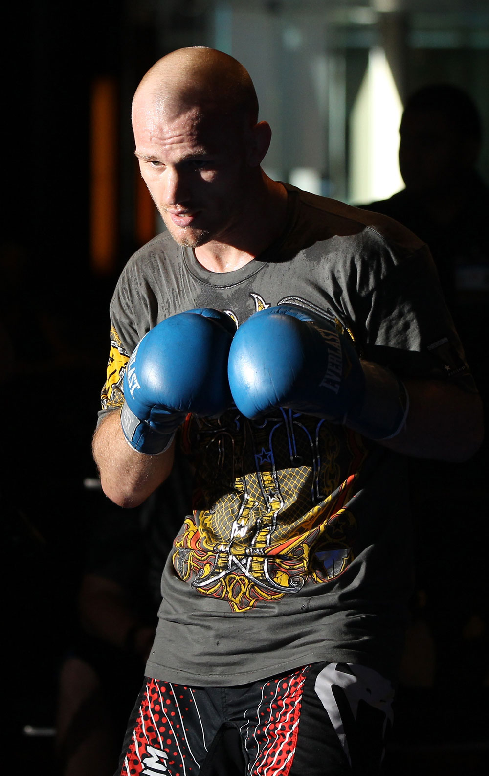SYDNEY, AUSTRALIA - FEBRUARY 28:  Martin Kampmann works out for the media during the UFC on FX open workouts at the Star Casino on February 28, 2012 in Sydney, Australia.  (Photo by Josh Hedges/Zuffa LLC/Zuffa LLC via Getty Images) *** Local Caption *** Martin Kampmann