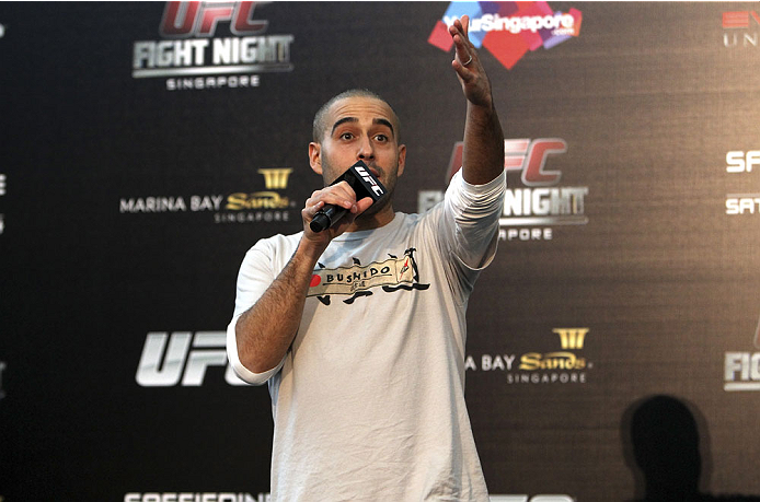 SINGAPORE - JANUARY 03:  Jon Anik during the UFC Fight Night Singapore Q&A at the Shoppes at Marina Bay Sands on January 3, 2014 in Singapore. (Photo by Mitch Viquez/Zuffa LLC/Zuffa LLC via Getty Images)