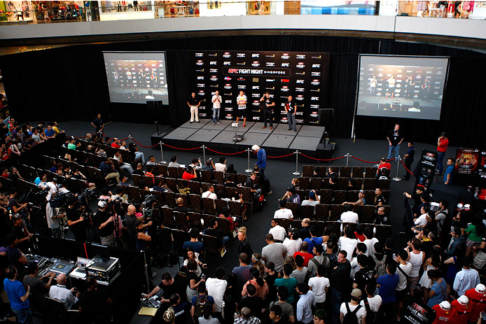 SINGAPORE - JANUARY 03:  General view during the UFC Fight Night Singapore Q&A at the Shoppes at Marina Bay Sands on January 3, 2014 in Singapore. (Photo by Mitch Viquez/Zuffa LLC/Zuffa LLC via Getty Images)