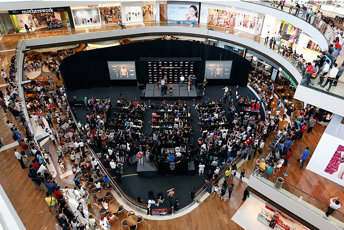 SINGAPORE - JANUARY 03:  A general view during the UFC Fight Night Singapore Weigh-in at the Shoppes at Marina Bay Sands on January 3, 2014 in Singapore. (Photo by Josh Hedges/Zuffa LLC/Zuffa LLC via Getty Images)