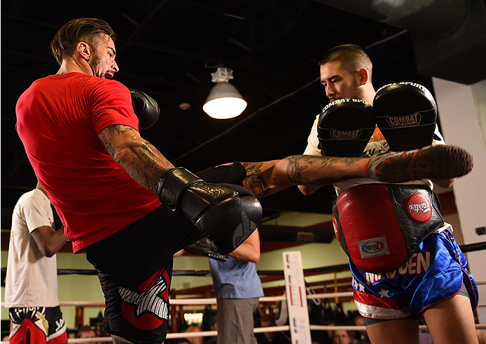 Thatch at Fight Night Broomfield open workouts
