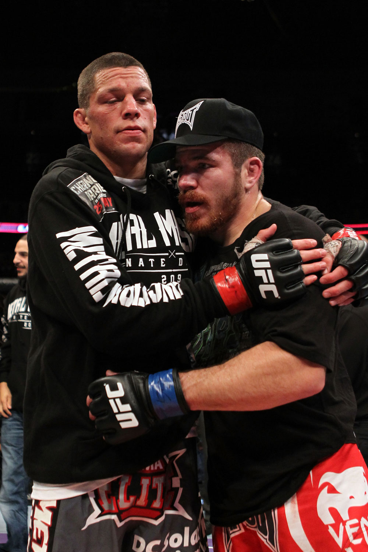 Nate Diaz y Jim Miller, dos quienes tienen hermanos también peleadores