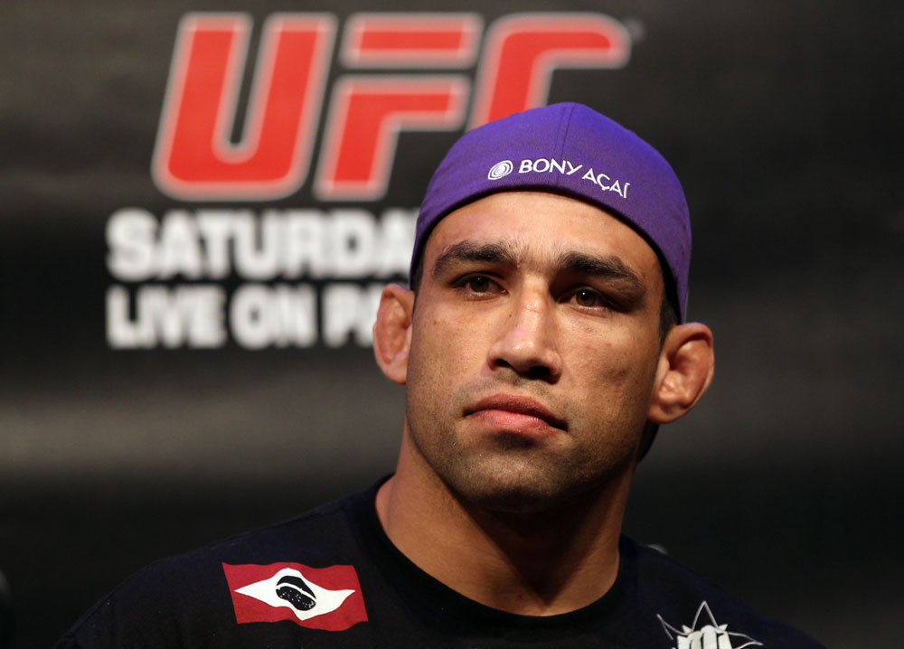 LAS VEGAS, NV - FEBRUARY 02:  Fabricio Werdum attends the UFC 143 final pre-fight press conference at the Mandalay Bay Hotel & Casino on February 2, 2012 in Las Vegas, United States.  (Photo by Josh Hedges/Zuffa LLC/Zuffa LLC via Getty Images) *** Local Caption *** Fabricio Werdum