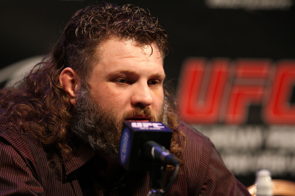 LAS VEGAS, NV - FEBRUARY 02:  Roy Nelson attends the UFC 143 final pre-fight press conference at the Mandalay Bay Hotel & Casino on February 2, 2012 in Las Vegas, United States.  (Photo by Josh Hedges/Zuffa LLC/Zuffa LLC via Getty Images) *** Local Caption *** Roy Nelson