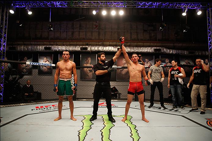 Martin Bravo or Team Griffin defeats Leonardo Rodriguez of Team Liddell in the Ultimate Fighter LATAM