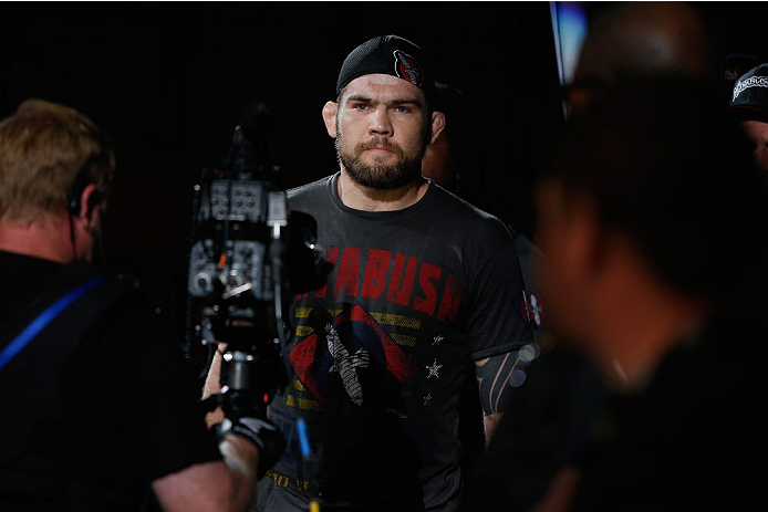 LAS VEGAS, NV - JULY 06:  Robert Drysdale enters the Octagon in his light heavyweight fight during the The Ultimate Fighter Finale inside the Mandalay Bay Events Center on July 6, 2014 in Las Vegas, Nevada.  (Photo by Josh Hedges/Zuffa LLC/Zuffa LLC via Getty Images)