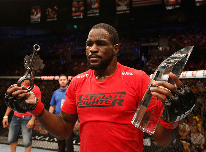 Corey Anderson poses after winning The Ultimate Fighter in July of 2014