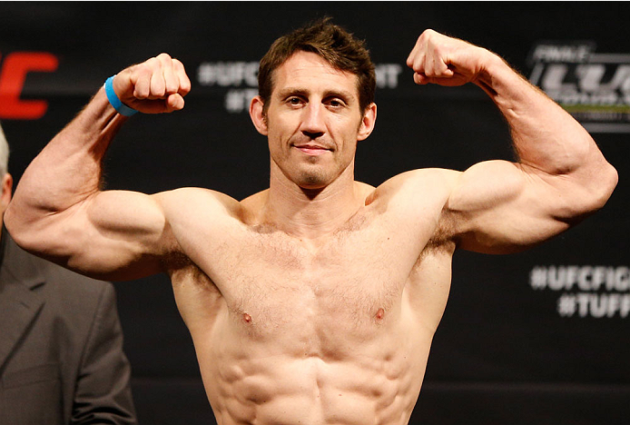 QUEBEC CITY, CANADA - APRIL 15:  Tim Kennedy weighs in during the TUF Nations Finale weigh-in at Colisee Pepsi on April 15, 2014 in Quebec City, Quebec, Canada. (Photo by Josh Hedges/Zuffa LLC/Zuffa LLC via Getty Images)