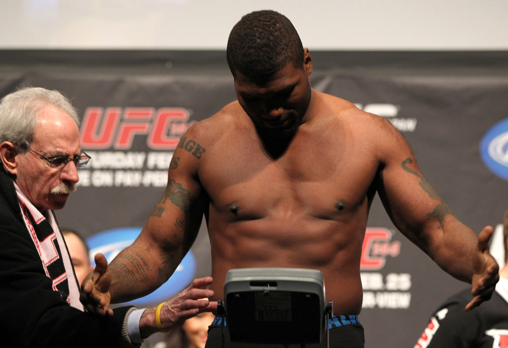 SAITAMA, JAPAN - FEBRUARY 25:  Quinton &quot;Rampage&quot; Jackson fails to make weight during the official UFC 144 weigh in at the Saitama Super Arena on February 25, 2012 in Saitama, Japan.  (Photo by Josh Hedges/Zuffa LLC/Zuffa LLC via Getty Images) *** Local Caption *** Quinton Jackson