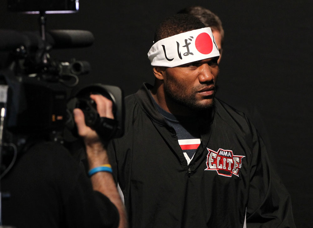 "SAITAMA, JAPAN - FEBRUARY 25:  Quinton ""Rampage"" Jackson enters the arena before weighing in during the official UFC 144 weigh in at the Saitama Super Arena on February 25, 2012 in Saitama, Japan.  (Photo by Josh Hedges/Zuffa LLC/Zuffa LLC via Getty Images) *** Local Caption *** Quinton Jackson"