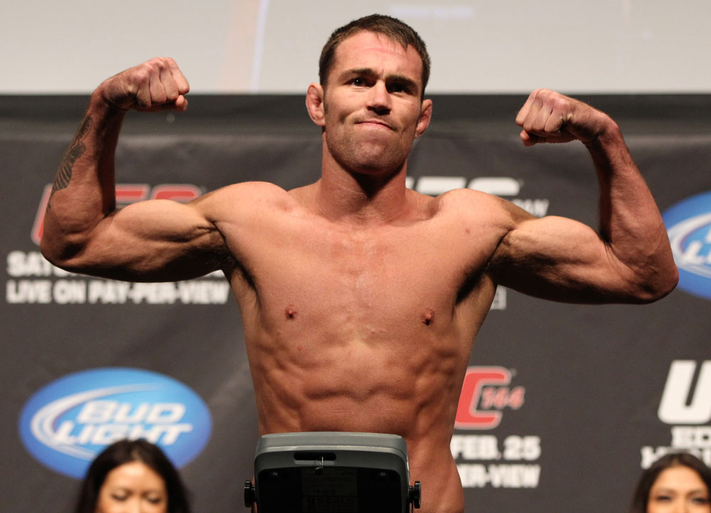 SAITAMA, JAPAN - FEBRUARY 25:  Jake Shields weighs in during the official UFC 144 weigh in at the Saitama Super Arena on February 25, 2012 in Saitama, Japan.  (Photo by Josh Hedges/Zuffa LLC/Zuffa LLC via Getty Images) *** Local Caption *** Jake Shields