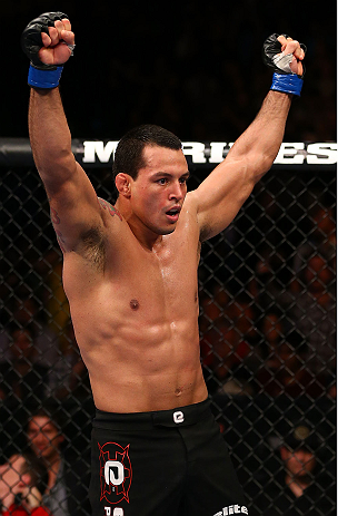 TORONTO, CANADA - SEPTEMBER 22: Vinny Magalhaes reacts after defeating Igor Pokrajac during their light heavyweight bout at UFC 152 inside Air Canada Centre on September 22, 2012 in Toronto, Ontario, Canada. (Photo by Al Bello/Zuffa LLC/Zuffa LLC via Getty Images)