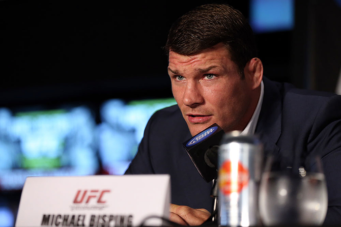 TORONTO, CANADA - SEPTEMBER 20: Michael Bisping interacts with media during the UFC 152 pre-fight press conference at Real Sports Bar and Grill on September 20, 2012 in Toronto, Ontario, Canada. (Photo by Josh Hedges/Zuffa LLC/Zuffa LLC via Getty Images)