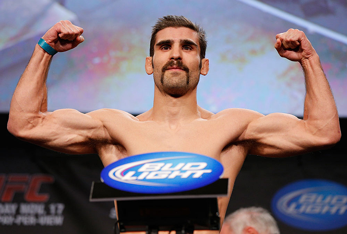 MONTREAL, CANADA - NOVEMBER 16:  Antonio Carvalho weighs in during the official UFC 154 weigh in at New City Gas on November 16, 2012 in Montreal, Quebec, Canada.  (Photo by Josh Hedges/Zuffa LLC/Zuffa LLC via Getty Images)