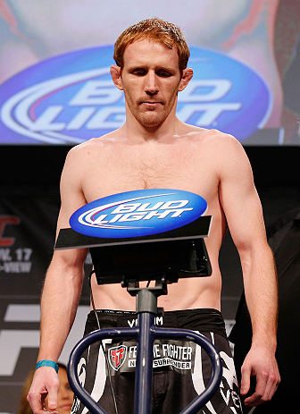 MONTREAL, CANADA - NOVEMBER 16:  Mark Bocek weighs in during the official UFC 154 weigh in at New City Gas on November 16, 2012 in Montreal, Quebec, Canada.  (Photo by Josh Hedges/Zuffa LLC/Zuffa LLC via Getty Images)
