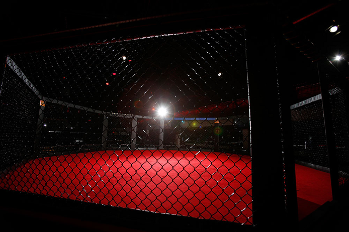 MONTREAL, CANADA - NOVEMBER 15:  A general view of the Octagon before an open training session ahead of UFC 154 at New City Gas on November 15, 2012 in Montreal, Quebec, Canada.  (Photo by Josh Hedges/Zuffa LLC/Zuffa LLC via Getty Images)