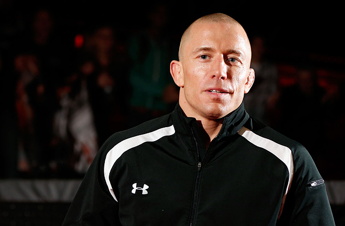 MONTREAL, CANADA - NOVEMBER 15:  Georges St-Pierre stands in the Octagon during an open training session ahead of UFC 154 at New City Gas on November 15, 2012 in Montreal, Quebec, Canada.  (Photo by Josh Hedges/Zuffa LLC/Zuffa LLC via Getty Images)