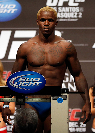 LAS VEGAS, NV - DECEMBER 28:  Melvin Guillard weighs in during the UFC 155 weigh-in on December 28, 2012 at MGM Grand Garden Arena in Las Vegas, Nevada. (Photo by Josh Hedges/Zuffa LLC/Zuffa LLC via Getty Images)