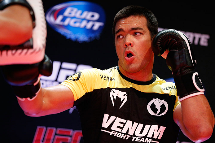RIO DE JANEIRO, BRAZIL - AUGUST 01:  Lyoto Machida holds an open training session for fans and media at Circo Voador on August 1, 2013 in Rio de Janeiro, Brazil. (Photo by Josh Hedges/Zuffa LLC/Zuffa LLC via Getty Images)