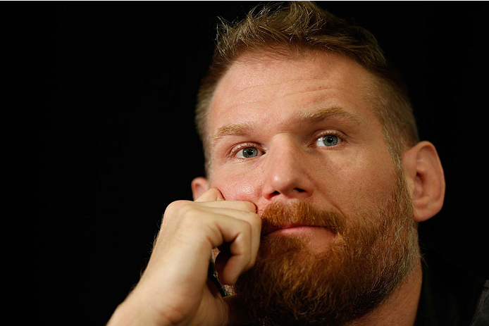 LAS VEGAS, NV - DECEMBER 26:  Josh Barnett interacts with media during the UFC 168 pre-fight press conference at the MGM Grand Hotel/Casino on December 26, 2013 in Las Vegas, Nevada. (Photo by Josh Hedges/Zuffa LLC/Zuffa LLC via Getty Images)