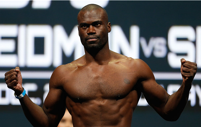 LAS VEGAS, NV - DECEMBER 27:  Urijah Hall weighs in during the UFC 168 weigh-in at the MGM Grand Garden Arena on December 27, 2013 in Las Vegas, Nevada. (Photo by Josh Hedges/Zuffa LLC/Zuffa LLC via Getty Images)