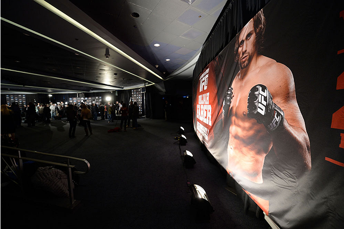 NEW YORK, NY - JANUARY 30:  A general view during the UFC 169 Ultimate Media Day at The Theater at Madison Square Garden on January 30, 2014 in New York City. (Photo by Jeff Bottari/Zuffa LLC/Zuffa LLC via Getty Images)