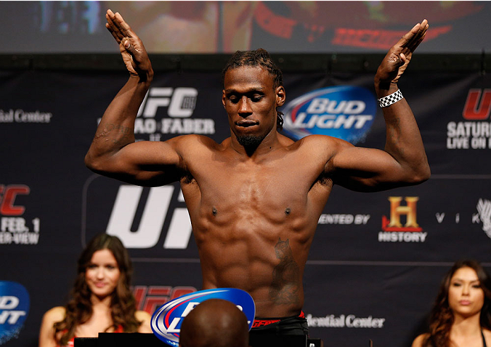 NEWARK, NJ - JANUARY 31:  Clint Hester weighs in during the UFC 169 weigh-in at the Prudential Center on January 31, 2014 in Newark, New Jersey. (Photo by Josh Hedges/Zuffa LLC/Zuffa LLC via Getty Images)