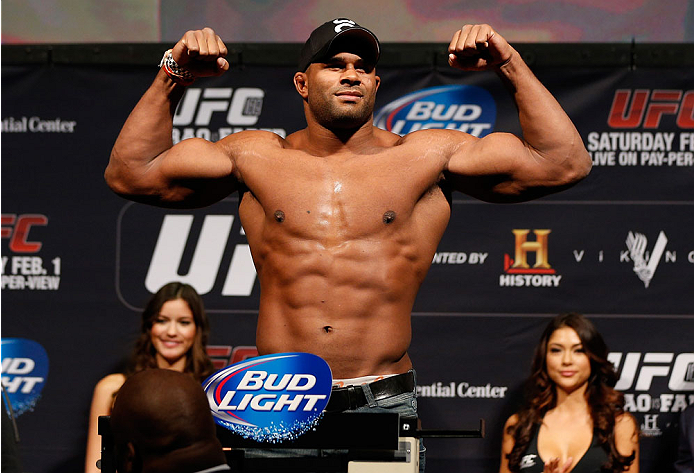 NEWARK, NJ - JANUARY 31:  Alistair Overeem weighs in during the UFC 169 weigh-in at the Prudential Center on January 31, 2014 in Newark, New Jersey. (Photo by Josh Hedges/Zuffa LLC/Zuffa LLC via Getty Images)