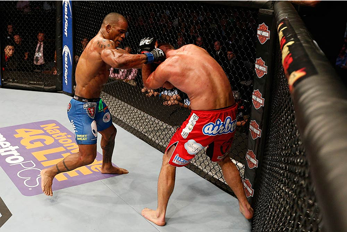 Lombard lands a right against Jake Shields