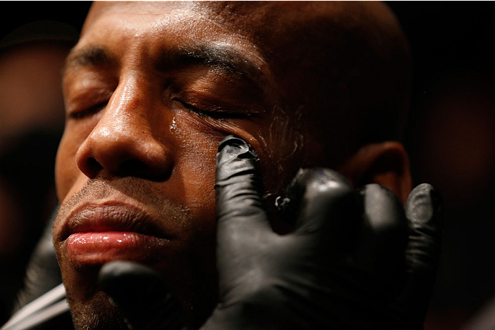 BALTIMORE, MD - APRIL 26:  Patrick Williams prepares to enter the Octagon before his bantamweight bout during the UFC 172 event at the Baltimore Arena on April 26, 2014 in Baltimore, Maryland. (Photo by Josh Hedges/Zuffa LLC/Zuffa LLC via Getty Images)