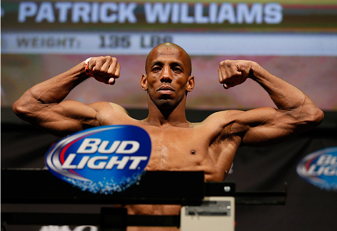 BALTIMORE, MD - APRIL 25: Patrick Williams weighs in during the UFC 172 weigh-in at the Baltimore Arena on April 25, 2014 in Baltimore, Maryland. (Photo by Josh Hedges/Zuffa LLC/Zuffa LLC via Getty Images)