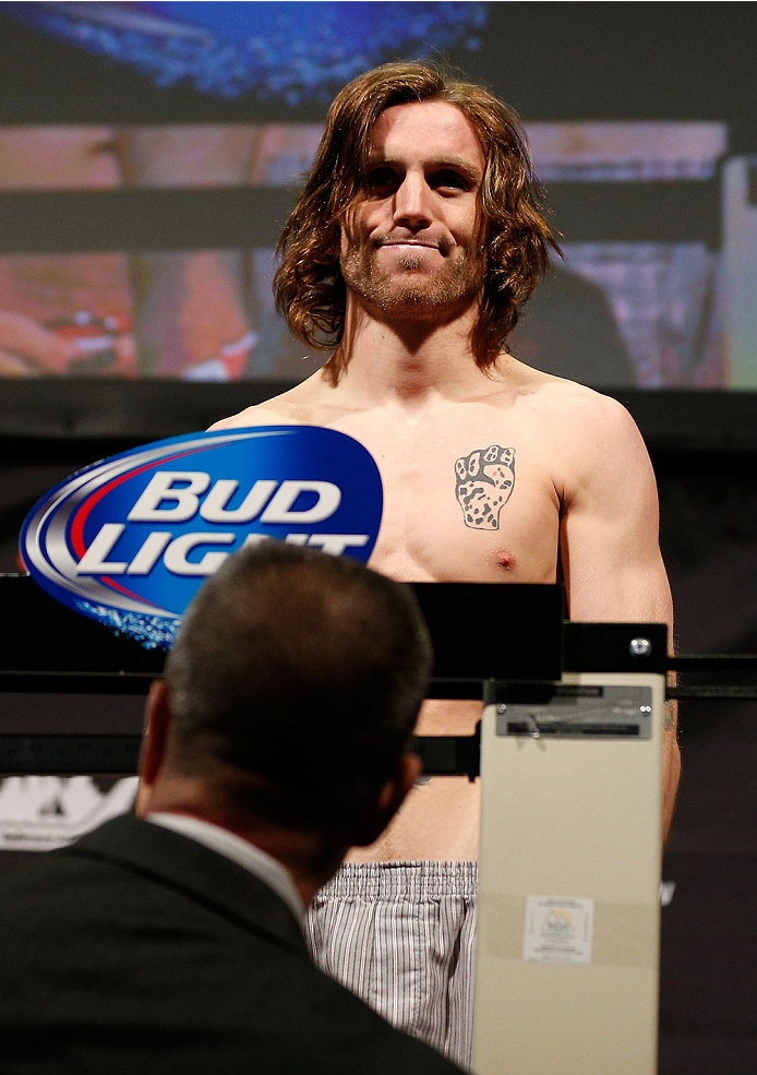 BALTIMORE, MD - APRIL 25: Timothy Elliott weighs in during the UFC 172 weigh-in at the Baltimore Arena on April 25, 2014 in Baltimore, Maryland. (Photo by Josh Hedges/Zuffa LLC/Zuffa LLC via Getty Images)
