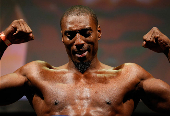 BALTIMORE, MD - APRIL 25:  Phil Davis weighs in during the UFC 172 weigh-in at the Baltimore Arena on April 25, 2014 in Baltimore, Maryland. (Photo by Josh Hedges/Zuffa LLC/Zuffa LLC via Getty Images)