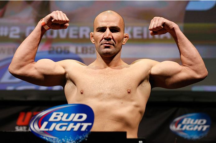 BALTIMORE, MD - APRIL 25:  Glover Teixeira weighs in during the UFC 172 weigh-in at the Baltimore Arena on April 25, 2014 in Baltimore, Maryland. (Photo by Josh Hedges/Zuffa LLC/Zuffa LLC via Getty Images)