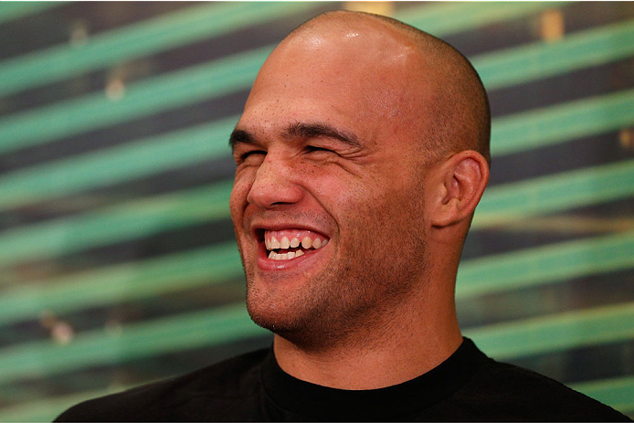 LAS VEGAS, NV - MAY 22:  Robbie Lawler interacts with media during the UFC 173 Ultimate Media Day at the MGM Grand Hotel/Casino on May 22, 2014 in Las Vegas, Nevada.  (Photo by Josh Hedges/Zuffa LLC/Zuffa LLC via Getty Images)