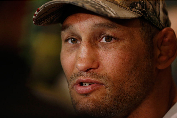 LAS VEGAS, NV - MAY 22:  Dan Henderson interacts with media during the UFC 173 Ultimate Media Day at the MGM Grand Hotel/Casino on May 22, 2014 in Las Vegas, Nevada.  (Photo by Josh Hedges/Zuffa LLC/Zuffa LLC via Getty Images)
