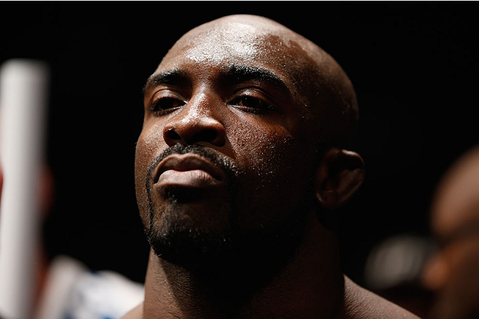 LAS VEGAS, NV - JULY 05:  Kevin Casey prepares to enter the octagon before his middleweight fight at UFC 175 inside the Mandalay Bay Events Center on July 5, 2014 in Las Vegas, Nevada.  (Photo by Josh Hedges/Zuffa LLC/Zuffa LLC via Getty Images)