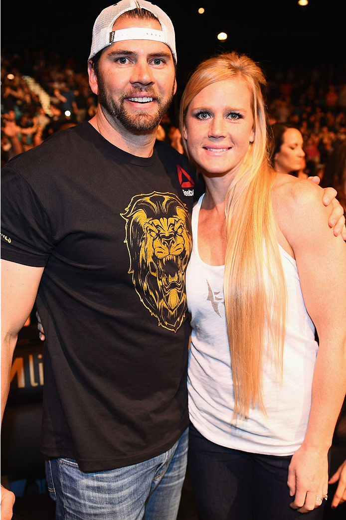 LAS VEGAS, NV - JANUARY 03:  UFC women's bantamweight fighter Holly Holm in attendance at UFC 182 event at the MGM Grand Garden Arena on January 3, 2015 in Las Vegas, Nevada.  (Photo by Jeff Bottari/Zuffa LLC/Zuffa LLC via Getty Images)