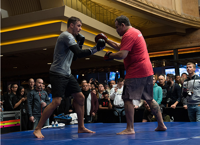 Jury at the UFC 182 open workout