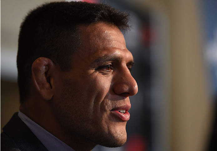 dos Anjos at UFC 185 Ultimate Media Day