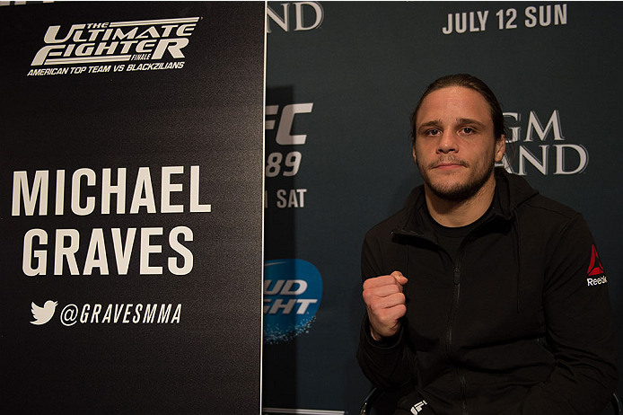 LAS VEGAS, NEVADA - JULY 9:   Michael Graves speaks to the media during the UFC 189 & TUF Finale Ultimate Media Day at MGM Grand Hotel & Casino on July 9, 2015 in Las Vegas Nevada. (Photo by Brandon Magnus/Zuffa LLC/Zuffa LLC via Getty Images)